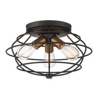 "Designers Fountain 1260 Jax 3 Light 15"" Wide Flush Mount Ceiling Fixture"
