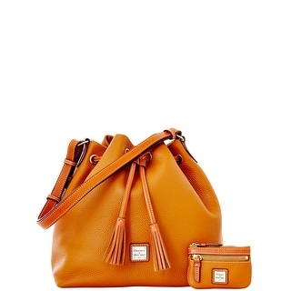 Dooney & Bourke Pebble Grain Drawstring with Coin Case (Introduced by Dooney & Bourke at $285 in Dec 2014) - Caramel