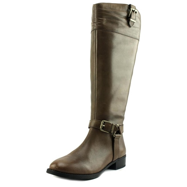 INC International Concepts Fedee Wide Calf Women Leather Knee High Boot