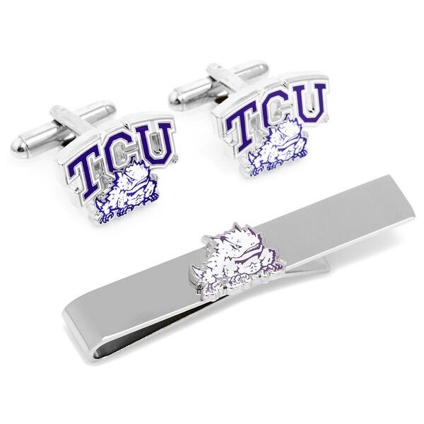 TCU Horned Frog Cufflinks and Tie Bar Gift Set