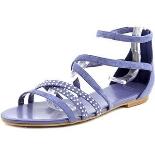 Cole Haan Mercer Women Open Toe Suede Blue Sandals