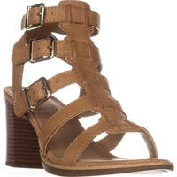 White Mountain Gemmy Block-Heel Dress Sandals, Natural