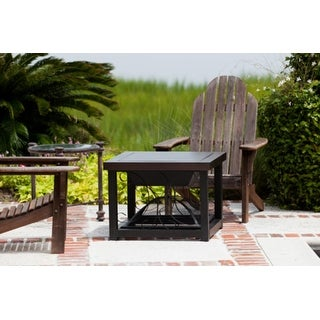 Fire Sense Hammer Tone Bronze Finish Cocktail Table Fire Pit #61331 - Hammered Bronze