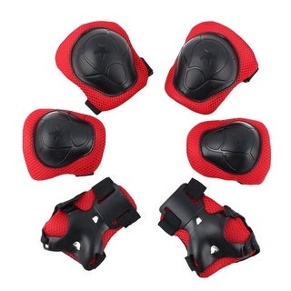 6pcs Inline Skating Wrist Guard Elbow Knee Protector Pad For Children