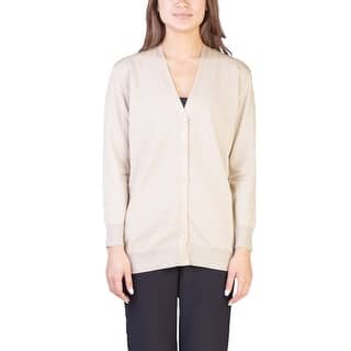 Prada Women's Viscose Nylon Blend Shimmering Cardigan Gold|https://ak1.ostkcdn.com/images/products/is/images/direct/14b2a719b559e8a4ffffbaa79b6e71738d117a25/Prada-Women%27s-Viscose-Nylon-Blend-Shimmering-Cardigan-Gold.jpg?impolicy=medium