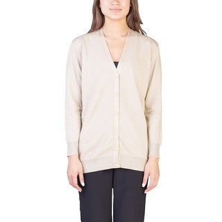 Prada Women's Viscose Nylon Blend Shimmering Cardigan Gold