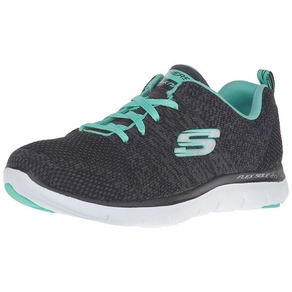 b754af596e8a9 Skechers Sport Women's Flex Appeal 2.0 High Energy Fashion Sneaker,  Black