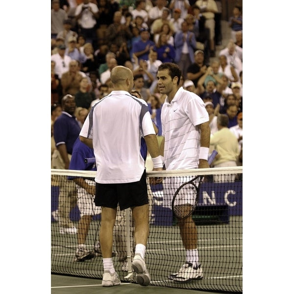 94168ae1da99 Shop Andre Agassi and Pete Sampras at the US Open Photo Print - Free  Shipping On Orders Over  45 - Overstock.com - 25385284