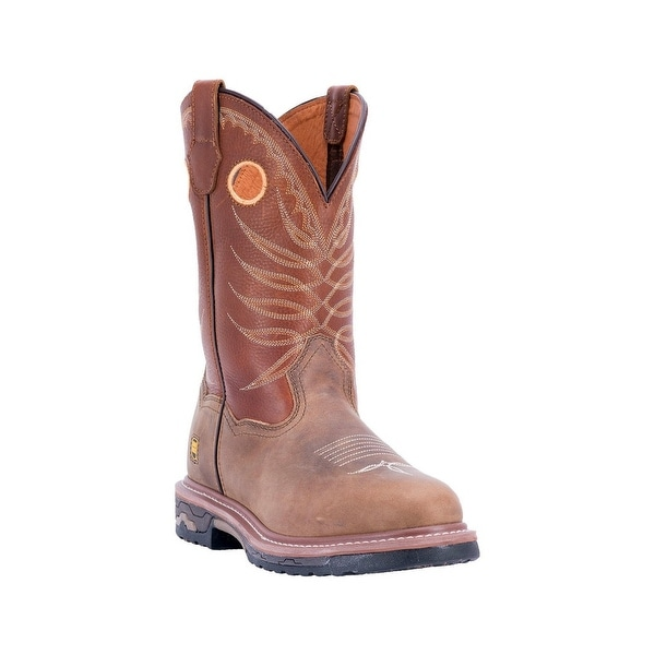 Dan Post Western Boots Mens Round Unit Dual Density Tan Brown