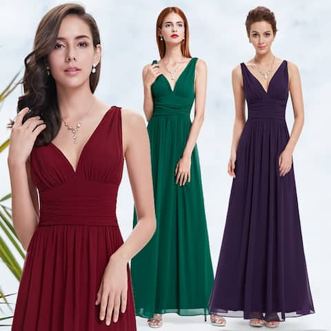 3b091bab8c36 Ever-Pretty Womens Empire Waist Sleeveless V Neck Evening Party Dress 09016