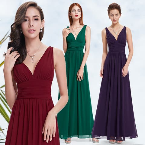 a6afb84014b5d Ever-Pretty Womens Empire Waist Sleeveless V Neck Evening Party Dress 09016