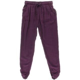 Rewash Womens Juniors Ruched Rayon Casual Pants