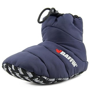 Baffin Cush Insulated Slipper Booty Youth Round Toe Canvas Blue Slipper
