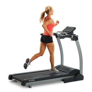 LifeSpan Fitness tr1200i foldable exercise treadmill with incline - Black