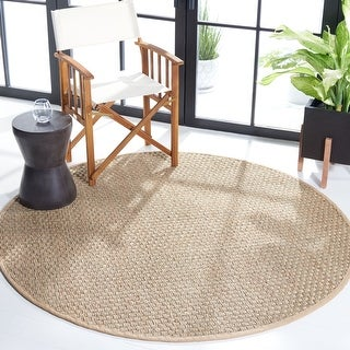 Link to SAFAVIEH Natural Fiber Marina Basketweave Seagrass Rug Similar Items in As Is