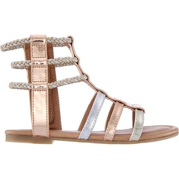 9b7da7d1f49 Shop Nina Girls  Chryssa Gladiator Sandal Multi Metallic Synthetic ...