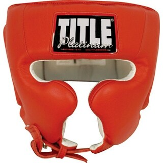 Title Boxing Platinum Training Headgear - Red