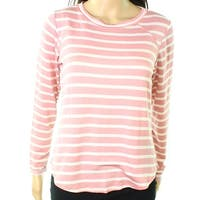Moa Moa Pink Women's Size Small S Striped High Low Knit Top