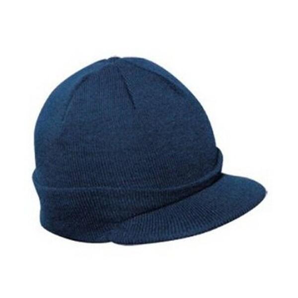 Shop Knit Brim Ski Hat - Winter Visor Cap Skull Beanie (Navy) - Free  Shipping On Orders Over  45 - Overstock.com - 20487195 434773e05e3