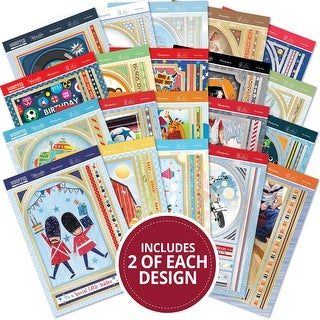 Hunkydory Whopper Topper A5 Paper Pad 40/Pkg-For The Boys, 20 Designs/2 Each