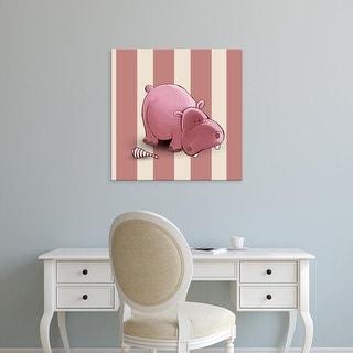 Easy Art Prints GraphINC's 'Hippo' Premium Canvas Art