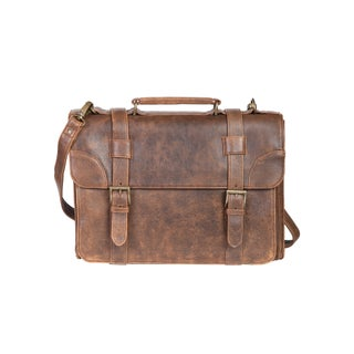 Scully Men's Leather Distressed Aerosquadron Messenger Bag