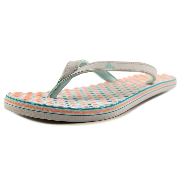 Adidas Eezay Dots Women Open Toe Leather White Slides Sandal