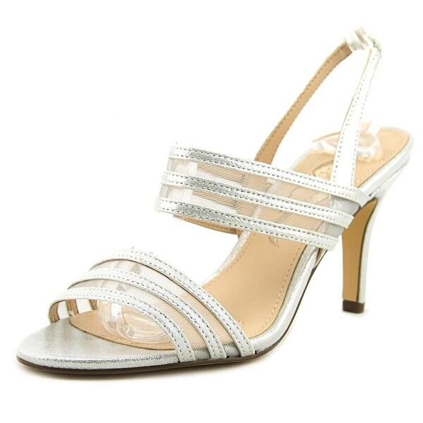 Nina Vallari Women Open Toe Synthetic Silver Sandals