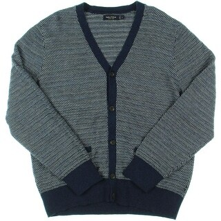 Nautica Mens Textured Button Front Cardigan Sweater