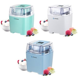 STAKOL 1.6 Quart Automatic Ice Cream Maker Freezer Bowl Dessert Machine Macarons Color