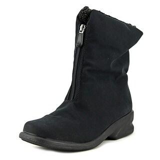 Toe Warmers Michelle Women  Round Toe Canvas Black Winter Boot