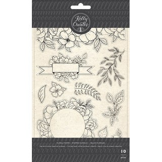 Kelly Creates Acrylic Traceable Stamps-Florals