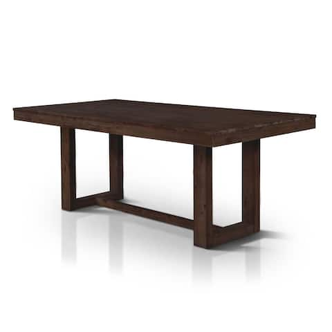 Furniture of America Treville Rustic Plank Style 78-inch Dining Table