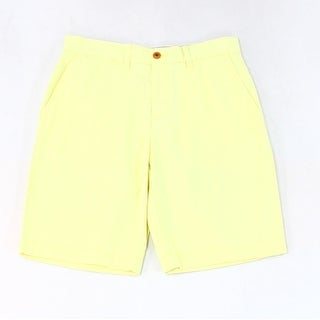 Tommy Hilfiger NEW Yellow Men's Size 38 Classic-Fit Chinos Shorts
