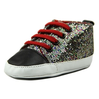 Luvable Friends Sparkly Sneaker Infant Round Toe Synthetic Multi Color Sneakers