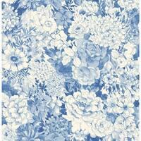 Brewster 2669-21715 Kita Sapphire Song Garden Wallpaper - sapphire garden - N/A