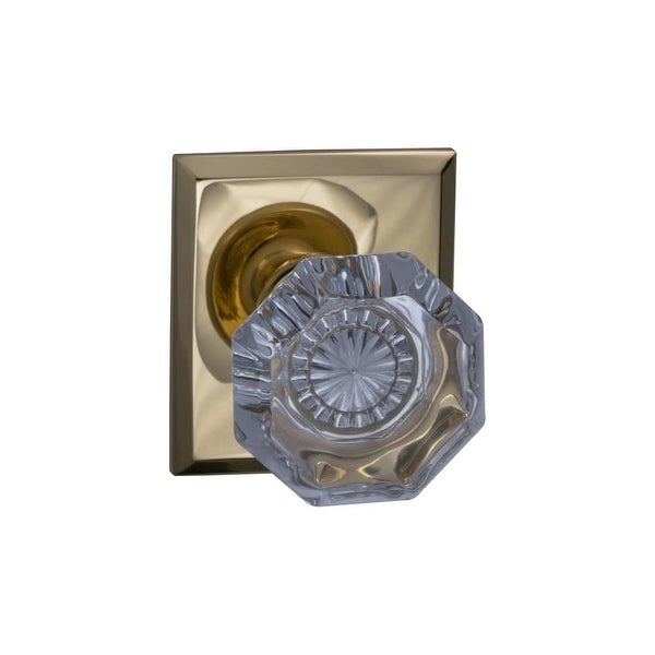 Superior Omnia 955RTSD Single Dummy Door Knob With Glass Knob And Rectangular Rose  From T   Polished