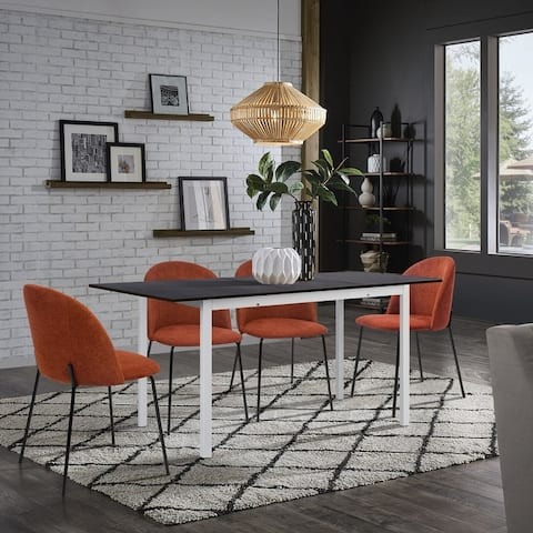 Carson Carrington Salgutsred Modern Extendable 5-Piece Dining Set