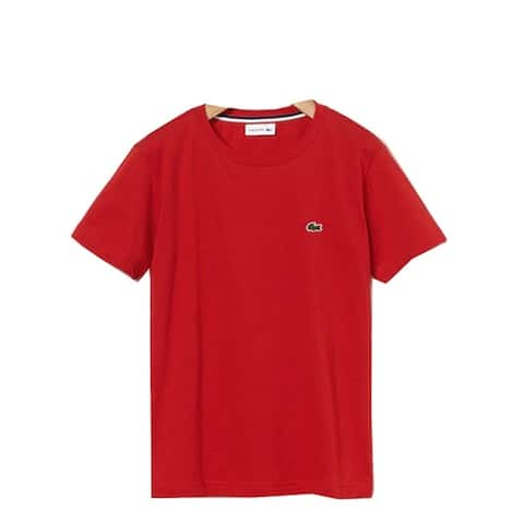Lacoste Red Crew Neck Cotton Jersey Trendy T-shirt Big Boys 14