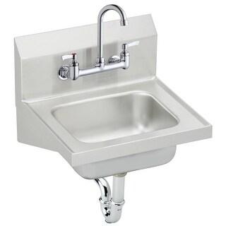 "Elkay CHS1716C Stainless Steel 16-3/4"" x 15-1/2"" Wall Mounted Handwash Sink Pack - buffed satin"