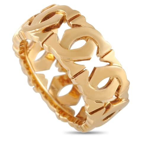 Cartier Yellow Gold Double C Ring Size 5