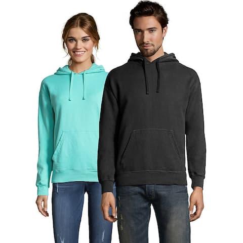 Hanes Men's ComfortWash Garment Dyed Fleece Hoodie Sweatshirt - Color - Black - Size - L