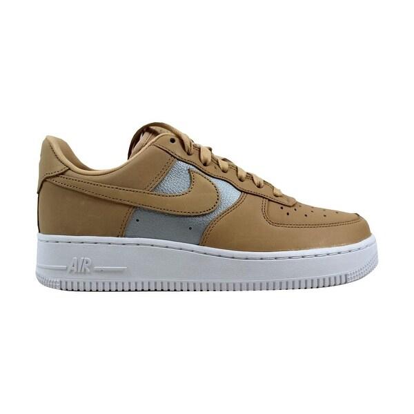 Nike Air Force 1 07 Se Damen Silber Weiß Grau Sneaker