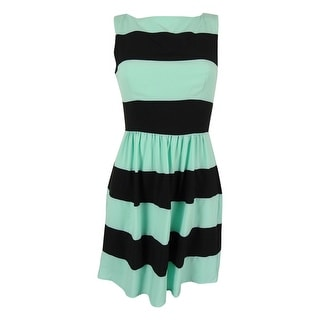 B Darlin Juniors' Sleeveless Striped Dress - 5/6