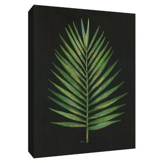 "PTM Images 9-148746  PTM Canvas Collection 10"" x 8"" - ""Midnight Palm"" Giclee Leaves Art Print on Canvas"
