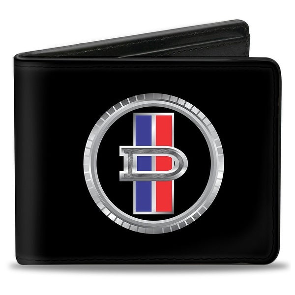 Datsun Grill Emblem Logo Black Silver Blue Red Bi Fold Wallet - One Size Fits most