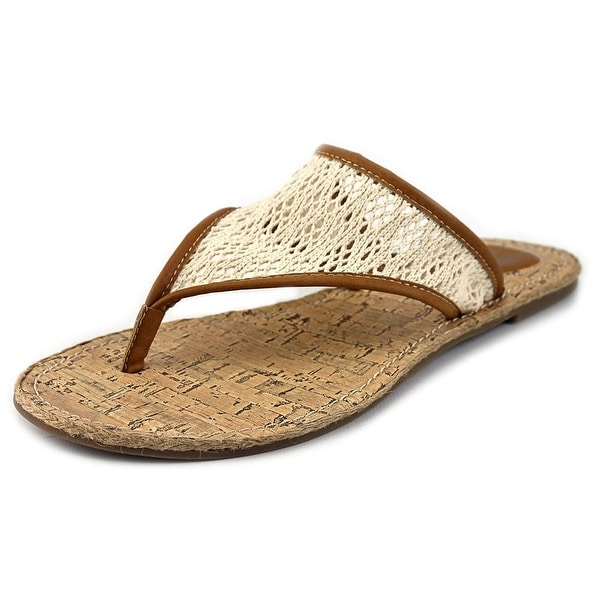 Rocket Dog Fanniely Lovely Women Open Toe Canvas Tan Thong Sandal