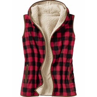 Legendary Whitetails Women's Kettle Hills Vest - shotgun shell red plaid