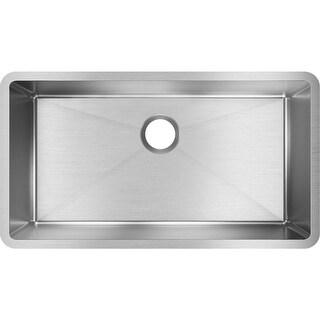 "Elkay EFRU311610T  Crosstown 32-1/2"" Undermount Single Basin Stainless Steel Kitchen Sink with Sound Dampening - Stainless Steel"
