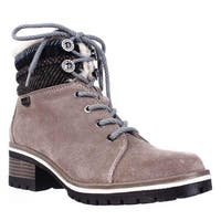 Anne Klein Sport Langstyn Lined Lace Up Snow Boots, Dark Natural Multi